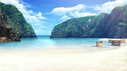 anime landscape scenery background outdoor beach backgrounds landscapes amazing animelandscape cenario salvo